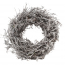 wholesale Artificial Flowers: Wreath Jaron D55cm, bead ca.18cm, white